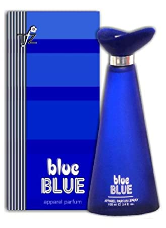 blue and blue perfume