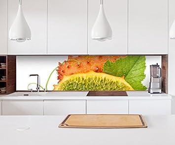 Küche 400Cm | Aufkleber Kuchenruckwand Kiwano Obst Gemuse Kuche Beere Essen Folie