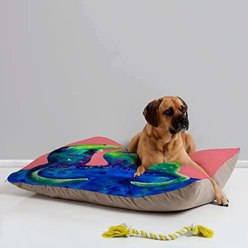 - Deny Designs Clara Nilles Margarita Otters on Fresh Melon Pet Bed, 40 by 30-Inch