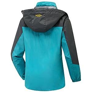 Wantdo Women's Hooded Outdoor Lightweight Waterproof Rain Jacket Windproof Raincoat