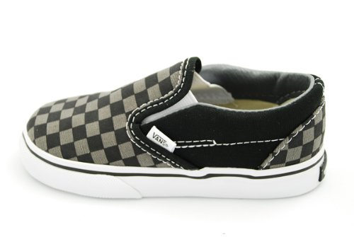 Vans Kids' Classic Slip-On Core-K, Check Black/Pewter, 5 M US -
