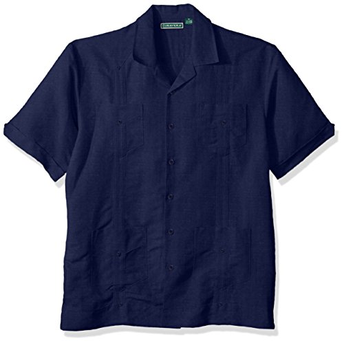 - Cubavera Men's Short Sleeve Traditional Guayabera Shirt, Dress Blues, Medium