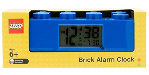 LEGO Blue Brick Kids Light Up Alarm Clock | blue | plastic | 2.75 inches tall | LCD display | boy girl | official
