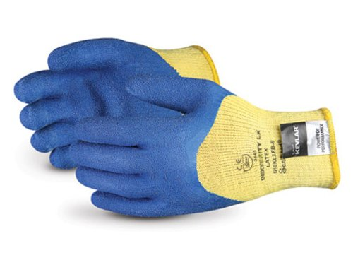 Superior S10KLXQ Dexterity LX Kevlar String Knit Glove with Latex Coated Palm, Work, Cut Resistant, 10 Gauge Thickness, Size 9 (Pack of 1 Pair) - Kevlar String Knit Glove