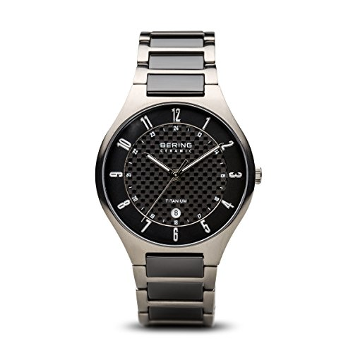 - BERING Time 11739-702 Mens Titanium Collection Watch with Titanium Band and Scratch Resistant Sapphire Crystal. Designed in Denmark.