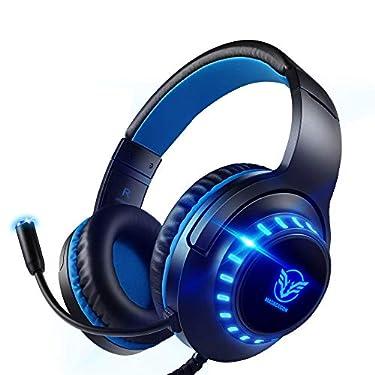 Pacrate-Auriculares-Gaming-PS4-Auriculares-con-Microfono-PC-Auriculares-Gamer-con-Cable-para-Xbox-One-Nintendo-Switch-con-Cancelacion-de-Ruido-Cascos-con-35mm-Jack-con-Sonido-Envolvente-Luz-LED