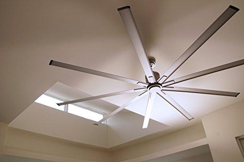 Big Air ICF96UPS Industrial Ceiling Fan, 96-Inch, Silver by Big Air (Image #1)