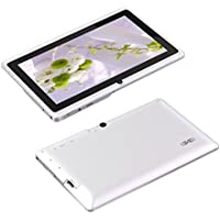 7 Quad Core Google Android 4.4 Tablet PC MID, Dual Camera, HD 1024x600 Capacitive Multi-touch Screen, 8GB Nand Flash, Google Play Pre-load,-White