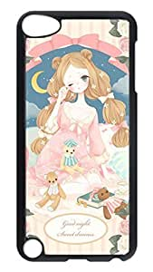 Brian114 Case, iPod Touch 5 Case, iPod Touch 5th Case Cover, Cartoon Girl Retro Protective Hard PC Back Case for iPod Touch 5 ( Black )