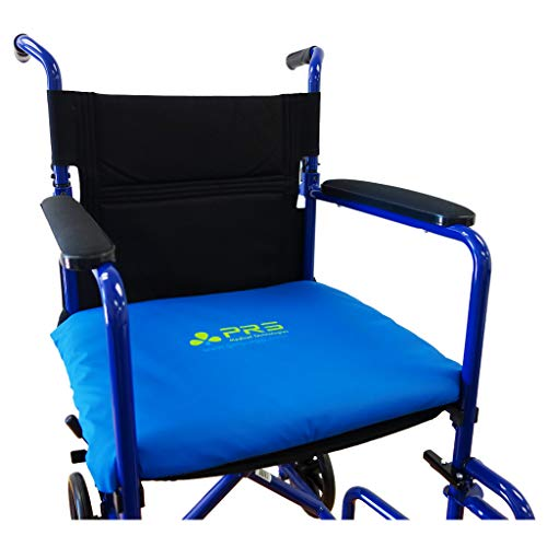 PURAP Seat Cushion for Wheelchairs and Recliners Helps Prevent and Heal Pressure Sores - Clinically Tested Fluid 3D Flotation Technology - 18 x 20 x 1.5 inches - Blue