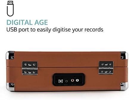 Auna Peggy Sue Record Collector Set Tocadiscos portátil Retro y ...