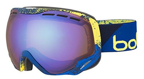 Bolle Winter Emperor Blue & Yellow Zenith Aurora 21638 Ski Goggles Double Lens ()