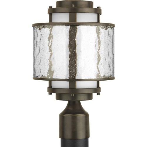 Progress Lighting P5499-20 Bay Court Collection 1-Light Post Lantern, Antique Bronze (Bay Post Lantern)