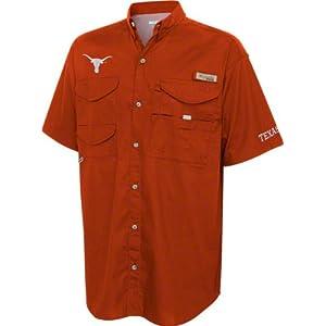 a0d2acece28 Texas Longhorns Dark Orange Columbia Performance Fishing Gear Bonehead  Short Sleeve Shirt