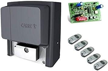 Motor de puerta corrediza CAME BX704AGS + 5 X mandos a distancia ...