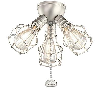 Kichler 370041NI Fan Light Kits Industrial 3 Light Fixture