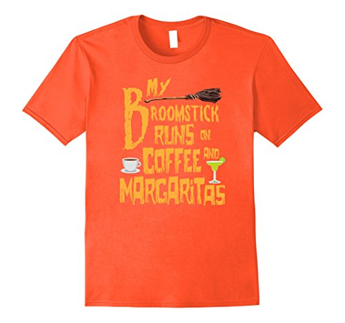Mens My Broomstick Runs On Coffee And Margaritas T-Shirt Small (Margarita Man Costume)