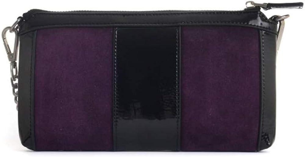 WEDDINESS Pochette in pelle scamosciata e nappa con borchie e strass cod.192P-AA-100-SUP LA CARRIE