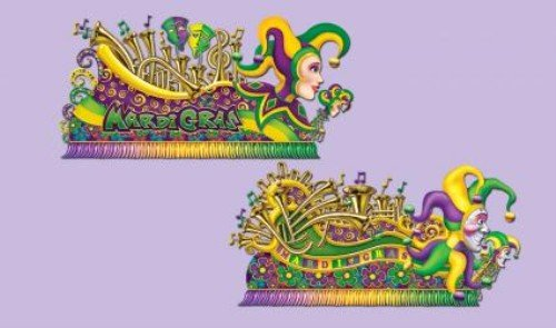 Mardi Gras Float Props Party Accessory (1 count) (2/Pkg) -
