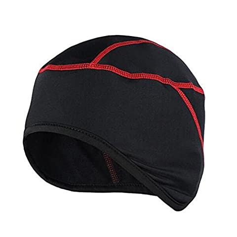 West Biking Bike Headgear Cycling Skull Cap Thermal Helmet Liner Bicycle Fleece Hat For Winter Red