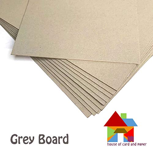 House of Card /& Paper Grey Kraft Board 1500micron 945gsm A4 Size 50 Sheets per Pack