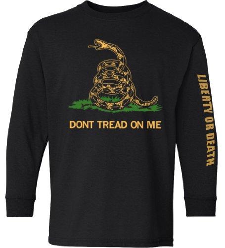 Longsleeve Don't Tread On Me Shirt - Black - XL