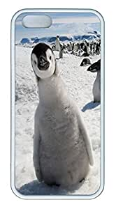 iPhone 5S Case Curious Little Penguin PC Custom iPhone 5/5S Case Cover White