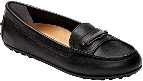 VIONIC Womens Honor Ashby Leather Shoes Schwarz