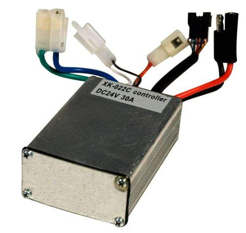 24 Volt 30 Amp Controller - with 5 Pin Throttle Connector for Currie - Schwinn S500 - Ezip E400 / E500 / E750 and Ezip E900. High Performance 24V Control Module for 500W - 750 Watt Motor, Model: XK-022C