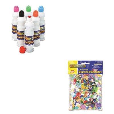 KITCKC2400CKC6114 - Value Kit - Creativity Street Sequins amp;amp; Spangles (CKC6114) and Creativity Street Sponge Paint Set (CKC2400)