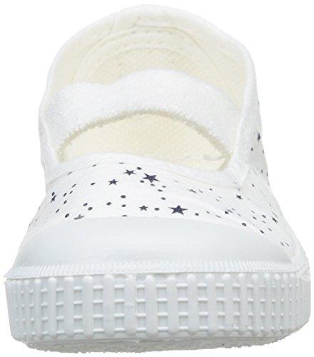 Victoria Bailarina Elastico Estrellas Tint, Damen Sneaker Weiß - Weiß (Blanco)