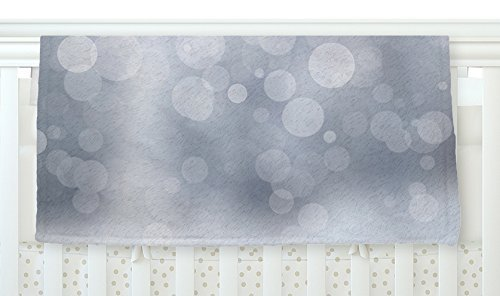 KESS InHouse KESS Original Glass Gray Bokeh Fleece Baby Blanket 40 x 30 [並行輸入品]   B077ZQTQJ7