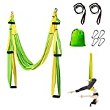 Sotech Yoga Swing Hammock, Aerial Yoga Trapeze Inversion Tool for Professional and Beginners, 2 Adjustable Daisy Chain