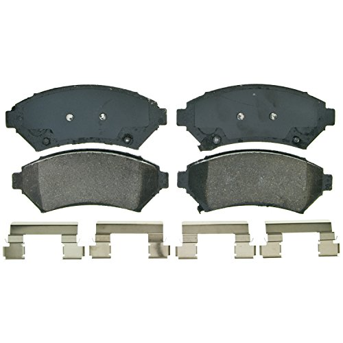 Wagner QuickStop ZD699 Ceramic Disc Pad Set Includes Pad Installation Hardware, Front - Front Brake Disc Part