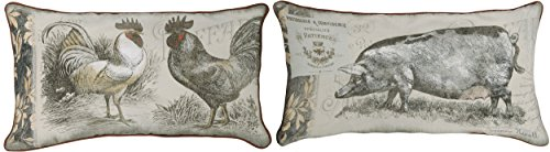 Manual Woodworkers And Weavers Urban Farmhouse Rooster/Pi...