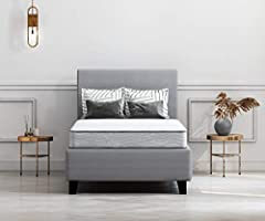 The budget-friendly Ashley Firm twin mattress offers a comfortable night's sleep at a comfortably affordable price. At the core of this mattress: 13.5-gauge tempered Bonnell steel coils that provide maximum support for a sound sleep. The matt...