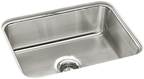 Sterling 11447-NA McAllister 24 x 18 x 8-Inch Under-mount Single Bowl Kitchen Sink, Stainless Steel