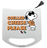 Smart Planet SGCM2 Peanuts Snoopy and Woodstock Grilled Cheese Sandwich Maker, White