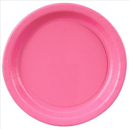 Hot Pink Paper Cake Plates, 20ct