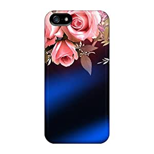 AlexandraWiebe Premium Protective Hard Cases For Iphone 5/5s- Nice Design - Of Roses Butterflies