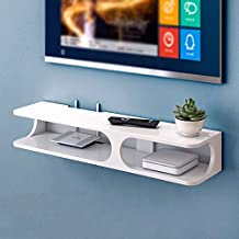 Shelf Wall Shelf Wall-Mounted TV Cabinet/Shelf Set Top Box Shelf TV Console Storage Rack (Color : White)