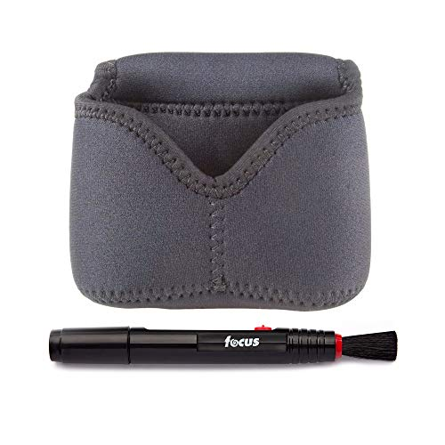 OP/TECH USA Soft Camera Pouch Digital D-Mini with Retaining Strap (Black) and Lens Cleaning Pen