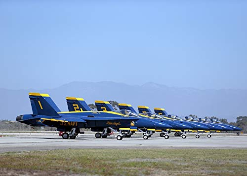 Home Comforts Canvas Print Blue Angels Super Hornets Navy Precision F 18 Vivid Imagery Stretched Canvas 32 x 24
