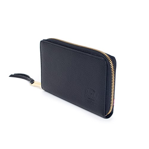 Leather Women's Supply Co Thomas Wallet Leather Women's Co Herschel Thomas Black Supply Herschel Oqfxag