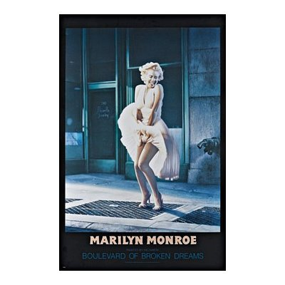 Marilyn Monroe Boulevard Of Broken Dreams Art Poster Print