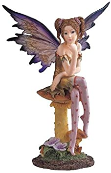 StealStreet SS-G-91257 Fairy Collection Pixie with Clear Wings Fantasy Figurine Decoration