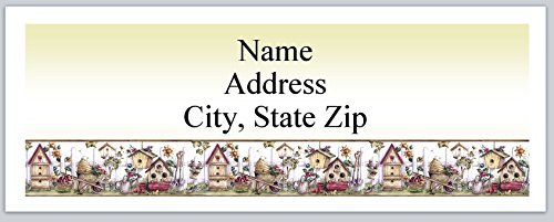 (120 Personalized Address labels Primitive Country Birdhouses Gardening Tools (P 346))