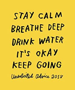 Unsolicited Advice 2018: Weekly Planner