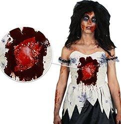 [Morphsuits Women's Morphcostume Co Beating Heart Zombie Digital Female Costume, Black/White, Large] (Zombie Costume For Female)