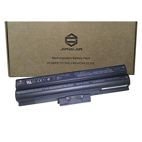 JIAZIJIA VGP-BPL21 Laptop Battery Replacement for Sony Vaio VGN-AW VGN-CS VGN-FW VGN-NS VPC-F VPC-S Series Notebook Black 10.8V 81Wh 7500mAh 9-Cell ()